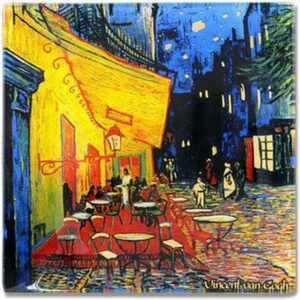 Тарелка квадратная Ночная терраса кафе Ван Гог Carmani2