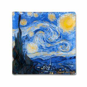 Тарелка квадратная Звездная ночь Ван Гог Carmani 2