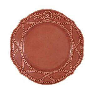 Тарелка обеденная Villa красная Matceramica 2