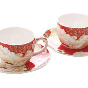 Набор 2 чашки с блюдцами Кимоно красный Чашка Maxwell Williams 55137 2