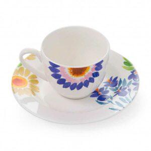Сервиз кофейный Servizio Caffe Jolie чашки с блюдцами 80 мл 6 персон Fade