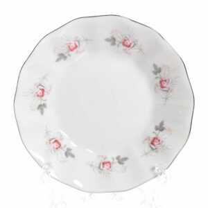 Розетка Серая роза платина 11 см Bernadotte 22541 2
