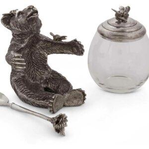 Банка для мёда и джема с ложкой Vagabond House Лесные истории Медведь 360мл 1