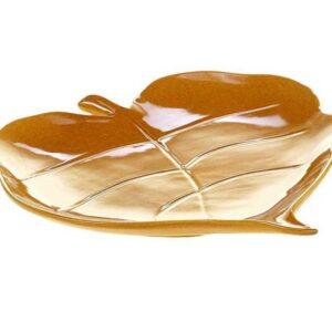 Блюдо-лист 3D Certified Осенние поля желтое,19х19см 1