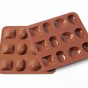 Форма для приготовления конфет Silikomart Бриллиант 3,5х3,5см шоколадная 1