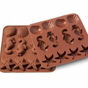 Форма для приготовления конфет Silikomart Морская жизнь 4х3,6см шоколадная 1