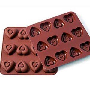 Форма для приготовления конфет Silikomart Сердце 3,4х3,4см шоколадная 1