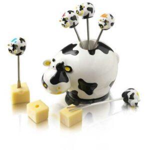 Набор вилок для сыра в подставке Boska Корова 6шт 1