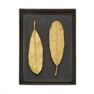 Панно Michael Aram Золотые листья чампы 26х35см золотистое 2