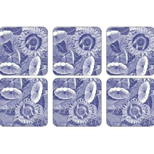 Подставка под бокалы Pimpernel Голубая комната Подсолнухи 10х10см набор 4 шт 1 1