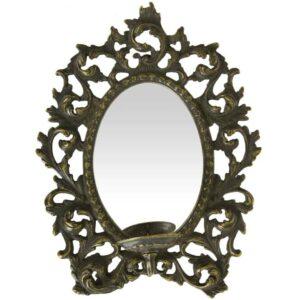 Бра с зеркалом Альберти Ливио 25 см античный 2