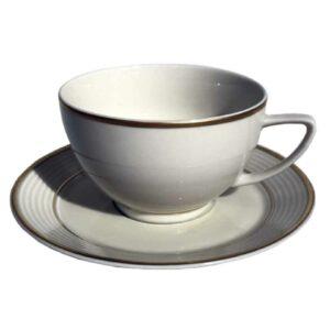 Чашка с блюдцем Thun Lea Отводка платина 240 млx155 мм 2